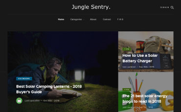 JungleSentry - Green Lifestyle and the Gear and Gadgets That Make it Fun